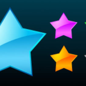 Glass Stars - vector gratuit #223717