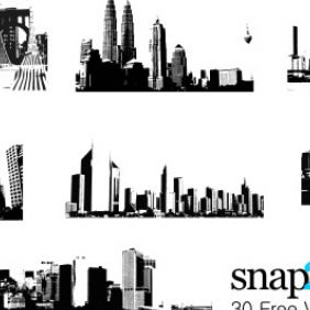 30 Free Vector Skylines - Free vector #223747