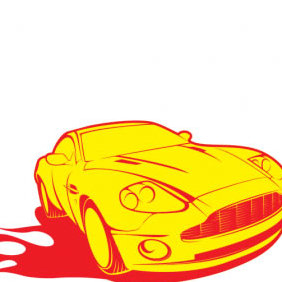 Aston Sports Car Vector - vector gratuit #223887