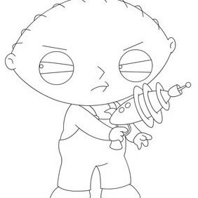 Stewie Resource Outline By Cha - Free vector #224027