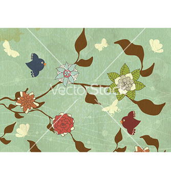 Free grunge floral background vector - vector gratuit #224157