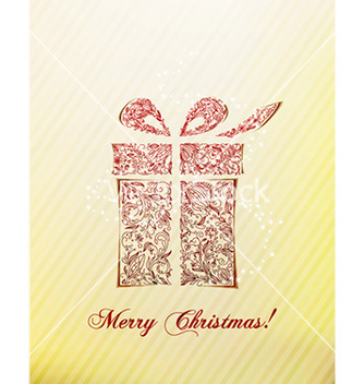 Free christmas with gift vector - vector gratuit #224167