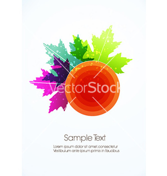 Free abstract leaves vector - vector gratuit #224177