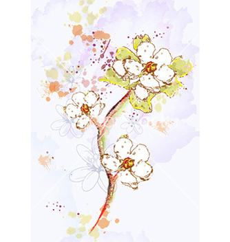 Free background with floral vector - Free vector #224357