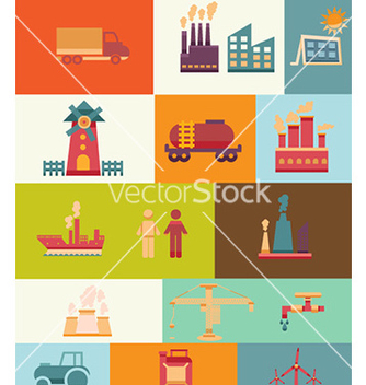 Free with industrial elements vector - Free vector #224787