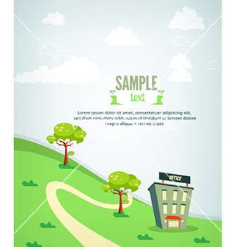 Free city stylized with buildings vector - vector #225187 gratis