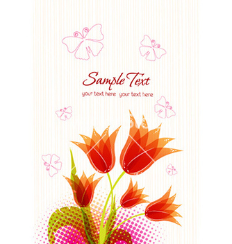 Free spring floral background with butterflies vector - Kostenloses vector #225217