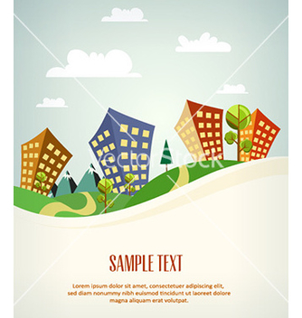 Free city stylized vector - Free vector #225497