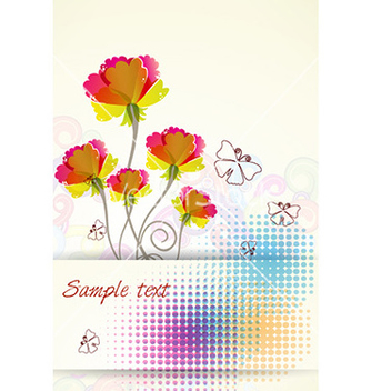 Free colorful floral background vector - vector #225507 gratis