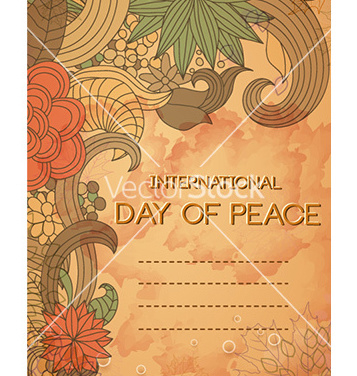 Free international day of peace vector - vector gratuit #225947
