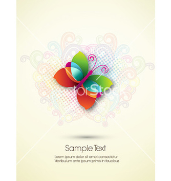 Free abstract butterfly vector - Kostenloses vector #226057