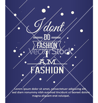 Free with fashion typography vector - vector #226107 gratis