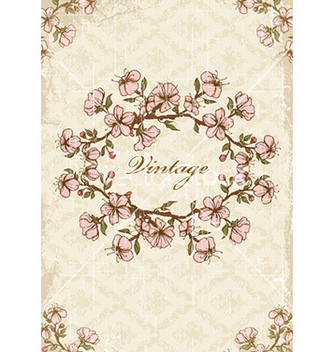 Free vintage frame with floral vector - Kostenloses vector #226127