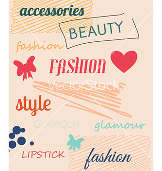 Free with fashion doodle elements vector - Kostenloses vector #226267