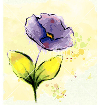 Free watercolor floral background vector - Free vector #226287