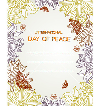 Free international day of peace vector - Kostenloses vector #226297