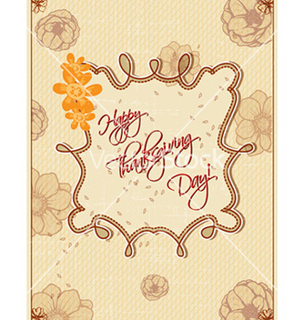 Free happy thanksgiving day with doodle frame vector - Free vector #226327
