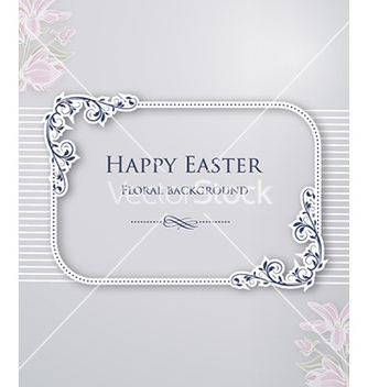 Free easter with floral frame vector - Kostenloses vector #226377