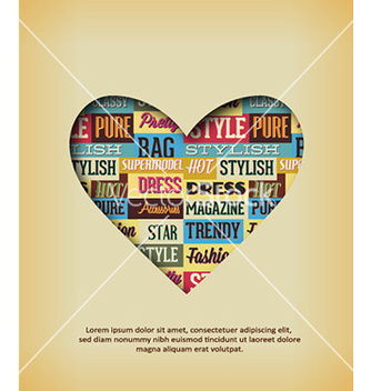 Free with typography elements and heart shape vector - Kostenloses vector #226407