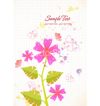 Free spring floral background with butterflies vector - Kostenloses vector #226557