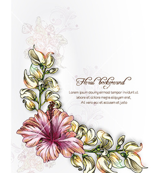 Free floral background vector - Free vector #226667