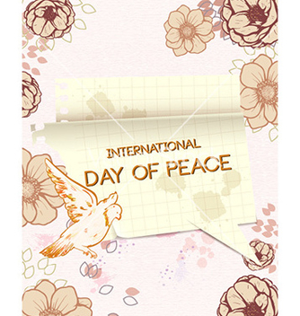 Free international day of peace with torn paper vector - бесплатный vector #226787