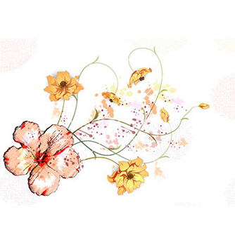 Free watercolor floral background vector - Kostenloses vector #226977