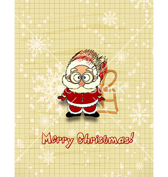 Free christmas with santa vector - vector gratuit #227017