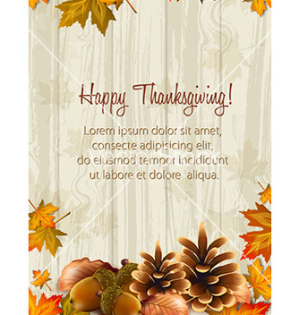 Free happy thanksgiving day with acorns vector - Free vector #227027