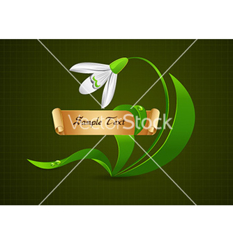 Free floral with gold banner vector - Free vector #227217