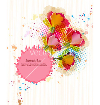 Free colorful floral background vector - vector #227307 gratis
