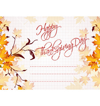 Free happy thanksgiving day vector - Free vector #227327