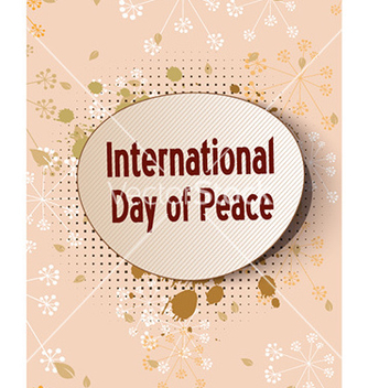 Free international day of peace with sticker vector - бесплатный vector #227397