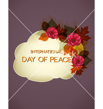 Free international day of peace with cloud vector - бесплатный vector #227577