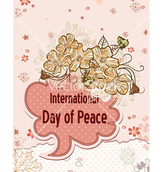 Free international day of peace with doodle frame vector - бесплатный vector #227657