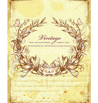 Free floral with grunge vector - vector #227767 gratis