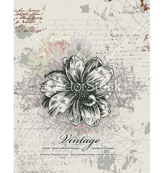 Free vintage floral background vector - Free vector #227837