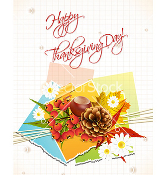 Free happy thanksgiving day with sticker vector - бесплатный vector #227847