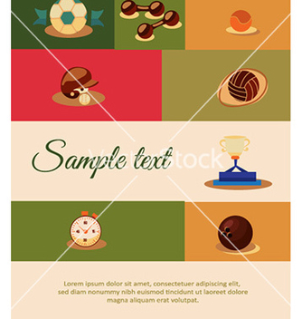 Free with sport elements vector - Kostenloses vector #227907