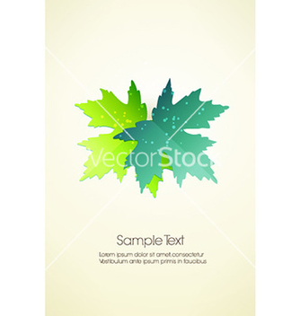 Free abstract leaves vector - vector gratuit #228227