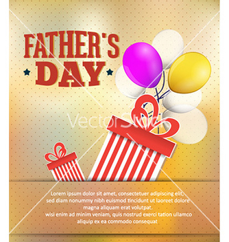 Free fathers day vector - Free vector #228697