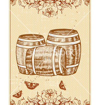 Free oktoberfest celebration with barrel of beer vector - бесплатный vector #228717