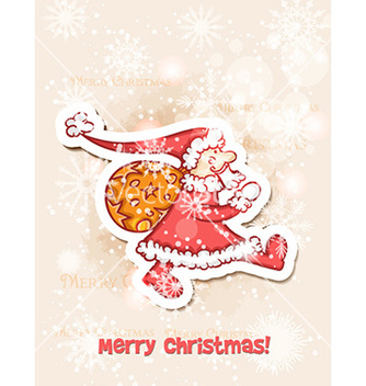 Free christmas with sticker santa vector - vector gratuit #228767