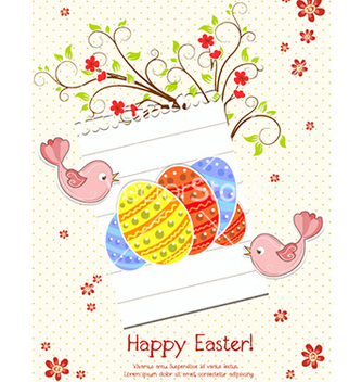 Free easter background vector - vector gratuit #229117