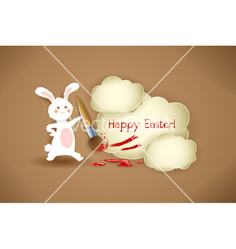 Free bunny with brush vector - vector gratuit #229257