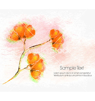 Free watercolor floral background vector - Free vector #229307