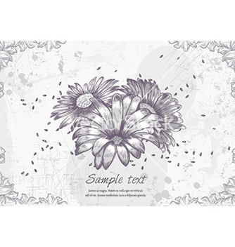 Free floral grunge vector - Free vector #229337
