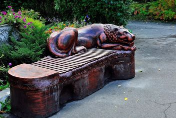 Sculptural bench - Free image #229397