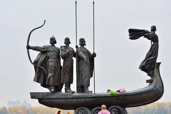 Monument to founders of Kiev - Free image #229467