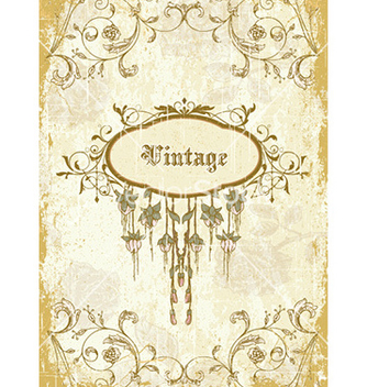Free vintage frame with floral vector - Free vector #229647
